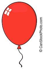 balloon, cartone animato, rosso