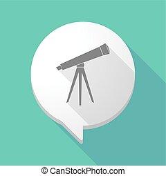 balloon, comico, uggia, telescopio, lungo