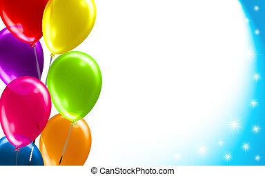 balloon, compleanno, fondo