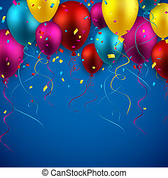 balloons., fondo, celebrare