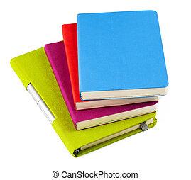 ballpoint, quaderni, colorito, penna