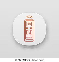 balsamo, controllo, icona, aria, app, remoto