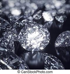 baluginante, fondo, diamanti