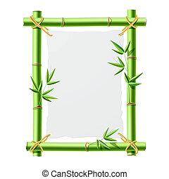 bambù, carta, cornice, vuoto
