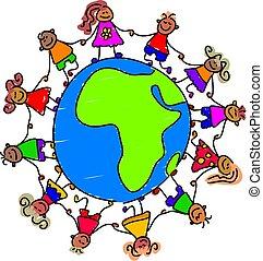 bambini, africano