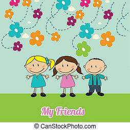 bambini, amici