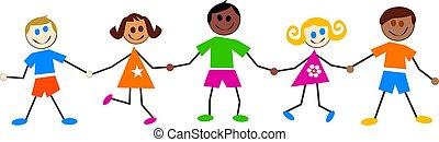 bambini, colorito