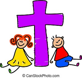 bambini, cristiano