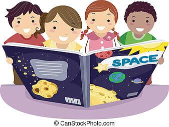 bambini, cultura, astronomia