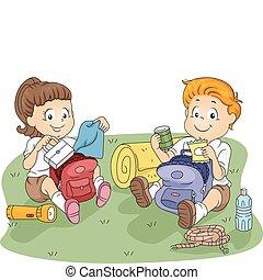 bambini, disimballaggio