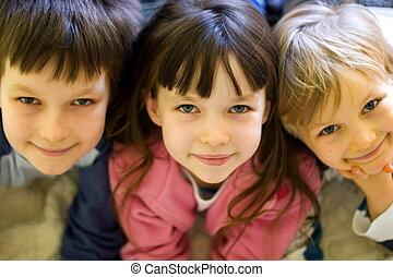 bambini, felice