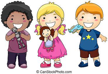 bambini, giocattoli