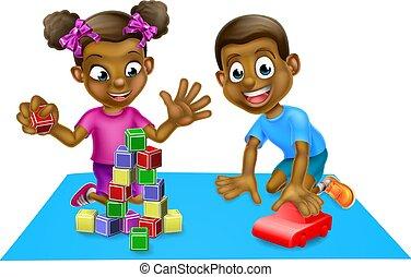 bambini, giocattoli, gioco