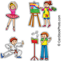 bambini, hobby