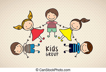 bambini, icone