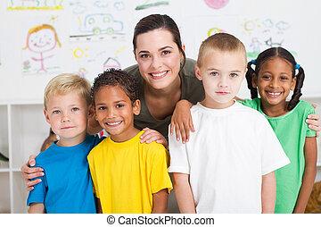 bambini, insegnante