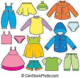bambini stanno vestendo