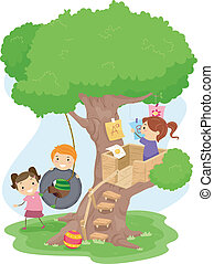 bambini, treehouse
