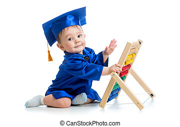 bambino, accademico, abbaco, giocattolo, gioco