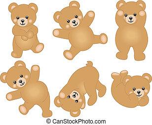 bambino, carino, orso, teddy