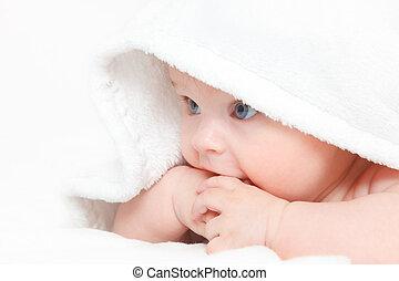 bambino, carino, ragazza