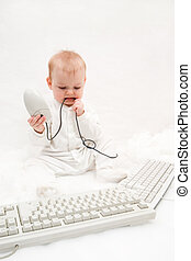 bambino, computer