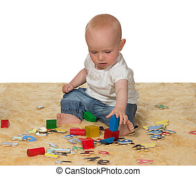 bambino, educativo, gioco, giovane, giocattoli