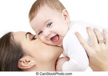 bambino, gioco, ridere, madre