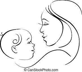 bambino, madre