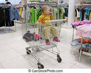 bambino, negozio
