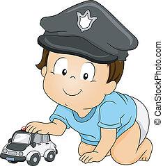 bambino, poliziotto