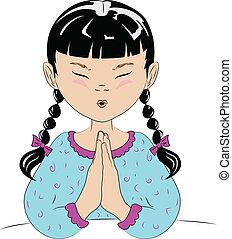 bambino, pregare