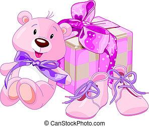 bambino, regali, ragazza