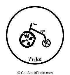 bambino, trike, icona
