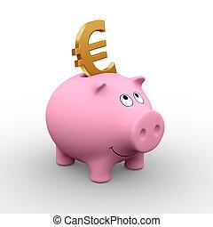 banca piggy, europeo