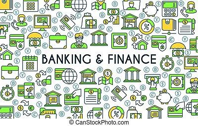 bancario, bandiera, finanza