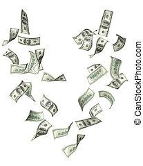 banconote, dollari, volare