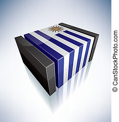 bandiera, 3d, repubblica, uruguay