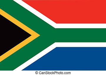 bandiera, africa, sud