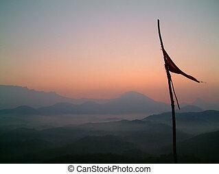 bandiera, alba