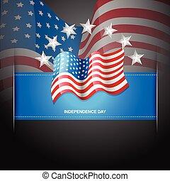 bandiera americana, etichetta