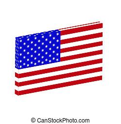 bandiera americana, icon.
