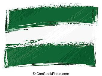 bandiera, andalusia, grunge