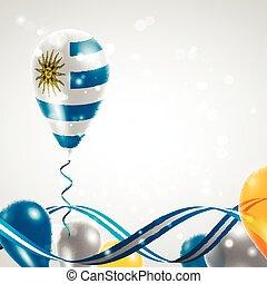 bandiera, balloon, uruguay