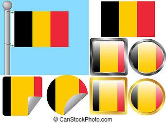 bandiera belgio, set