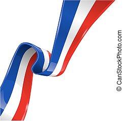 bandiera, bianco, isolato, fondo, francia