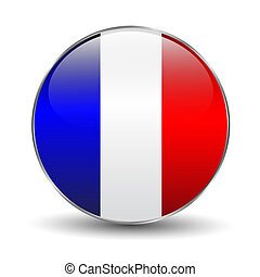 bandiera, bottone, francia