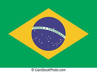 bandiera brasile, vettore, illustrazione