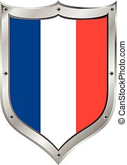 bandiera, button., francia