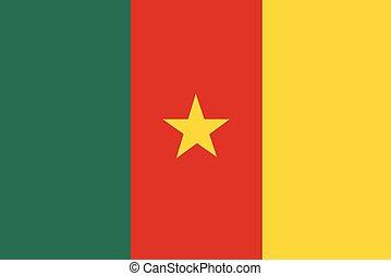 bandiera camerun, vettore